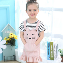 kid dress girls Toddler Baby Kids Girl Striped T-shirt Tops Cat Princess Dress Outfit Set Short Sleeve fashion cute lowest price