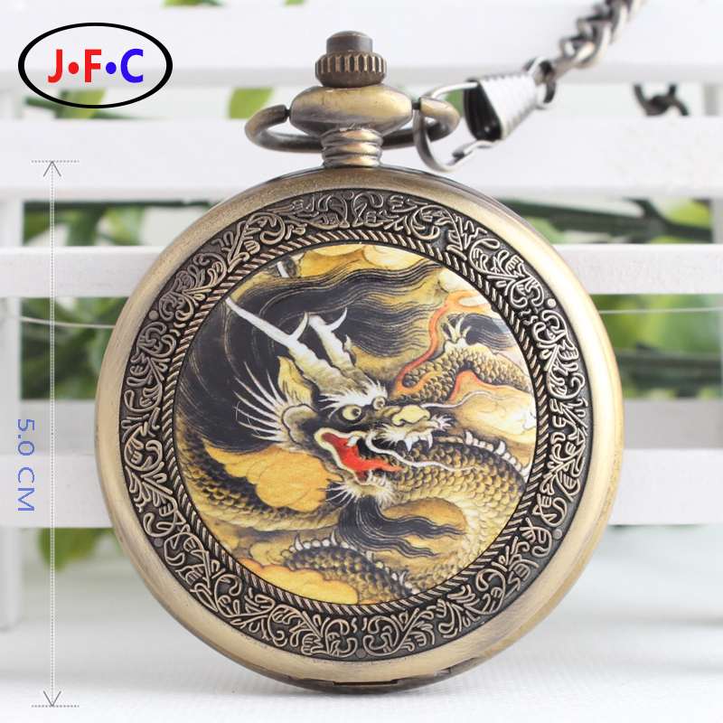 Watch gift edition retro flip semi automatic mechanical pocket watch male student antique pocket watch with chain B111<br><br>Aliexpress