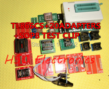 v6.5 TL866CS programmer +20 adapters +IC clip High speed TL866 AVR PIC Bios 51 MCU Flash EPROM Programmer(China)