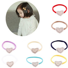 1 PC Newborn Kids Love Heart Headband Elastic Hair Band Headwear