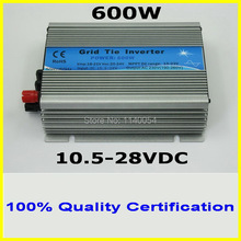 600W 10.5-28VDC MPPT Solar Grid Tie Micro Inverter for 4pcs 150W 18V PV Solar Panels, 120VAC or 230VAC Pure Sine Wave Output(China)