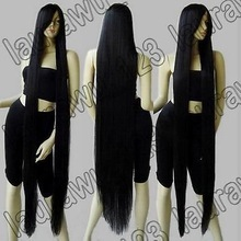 "FREE SHIPPING>****^^ Peluca perruque Cos 60"" Extra Long 150cm Black Straight Cosplay Wig queen women's Cosplay hair wigs(China)"