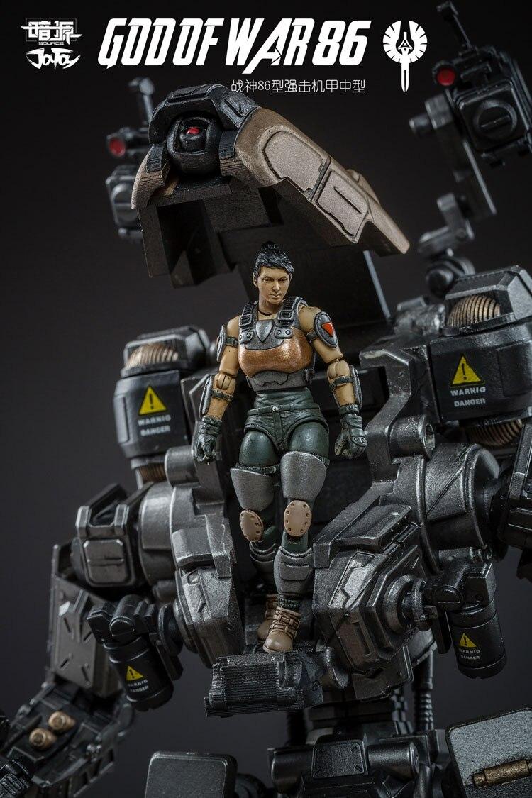 JOY TOY 1:25 action figure robot Military GOD OF WAR 86 Silver model Mecha high