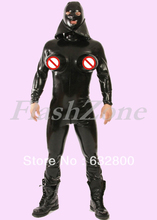 New arrival !!!  Men catsuit latex with inflatable breasts