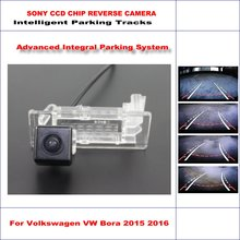 Car Reverse Back Up Camera For Volkswagen VW Bora 2015 2016 / Parking Rear View Camer / Dynamic Guidance Tragectory