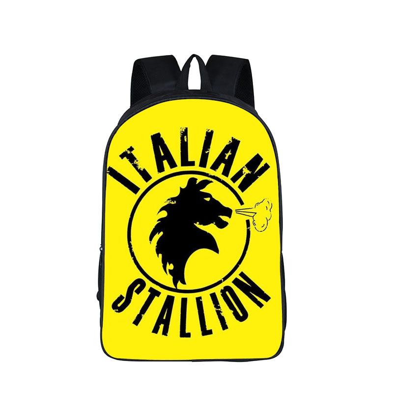 Rocky Balboa Italian Stallion Backpack For Teenager Women Men Daypack Boxer Club Children School Bags Girls Boys School Backpack<br><br>Aliexpress