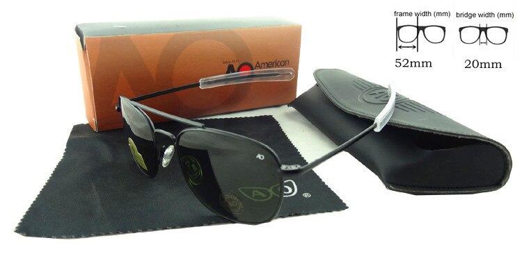 High Quality Cool Men Brand Designer Pilot Sunglasses Military Summer Goggle Fashion Eyewear Gafas De Sol Mujer Shade AO52<br><br>Aliexpress