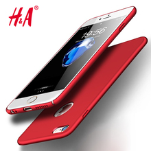 H&A Luxury Hard Back Plastic matte PC Full Case for iPhone 6 Cases 5s 6s 6 plus 6s 5 SE For iPhone 7 Plus Red Cases Cover Phone