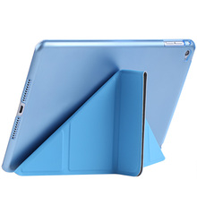 Ultra Slim case for iPad Mini 1 2 3 4 Removable PU Leather mini PC Back laptop Cover Smart Sleep Multi-folding Stand tablet case