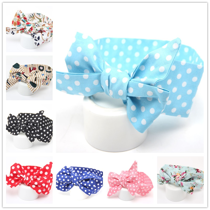 Kids Floral Head wraps Little girls Top Knot Headbands Child Hair Accessories Paisley knot headband turban 1pc HB550(China)