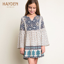 HAYDEN Bohemia girls dresses summer sundress long sleeve costume teenage girls clothes 8 12 years fancy frocks children clothing