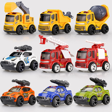 Diecasts Alloy Model Pull Back Car Suit Army City Fire Engine Boy Dinky Crane Toy Car  Kids Cheap Toys For Children China Gift