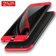 ZNP Luxury 360 Full Protection Ultra Thin Protective Cover Case For iPhone 7 7 Plus case for iphone 6 6s plus Moblie Phone Bag