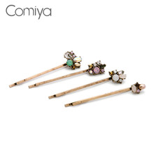 Comiya glass rhinestone epoxy resin summer hairpins for women simulated pearl cc accessories hair decoration aliexpress