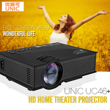 UNIC UC46 + Mini Simplified Micro LED Video Home Cinema Projector with WIFI Ready Support Miracast DLNA Airplay for Home