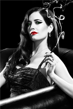 Custom Canvas Art Sexy Eva Green Poster Eva Green Wallpaper Sin City Movie Wall Stickers Sexy Lips Mural Home Decoration #2860#(China)