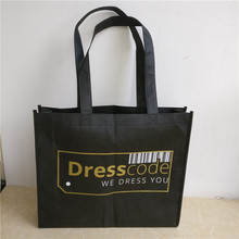 wholesales 1000pcs/lot 35Hx30x8cm custom printed logo non woven bag/custom tote reusable shopping bags/eco-friendly/advertising(China)