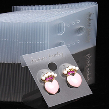 100pcs JETTING Professional Plastic Earring Ear Studs Display Hang Cards Jewelry Holder Wholesale