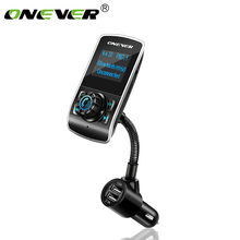 Onever Bluetooth FM Transmitter Wireless Audio Modulator Handsfree Car Kit Car MP3 Player with TF Slot AUX IN/OUT MP3/WMA/FLAC