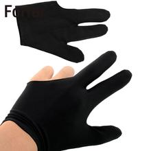 Forfar High Quality Durable Nylon 3 Fingers Glove for Billiard Snooker Table Cue Shooter Black Free shipping(China)