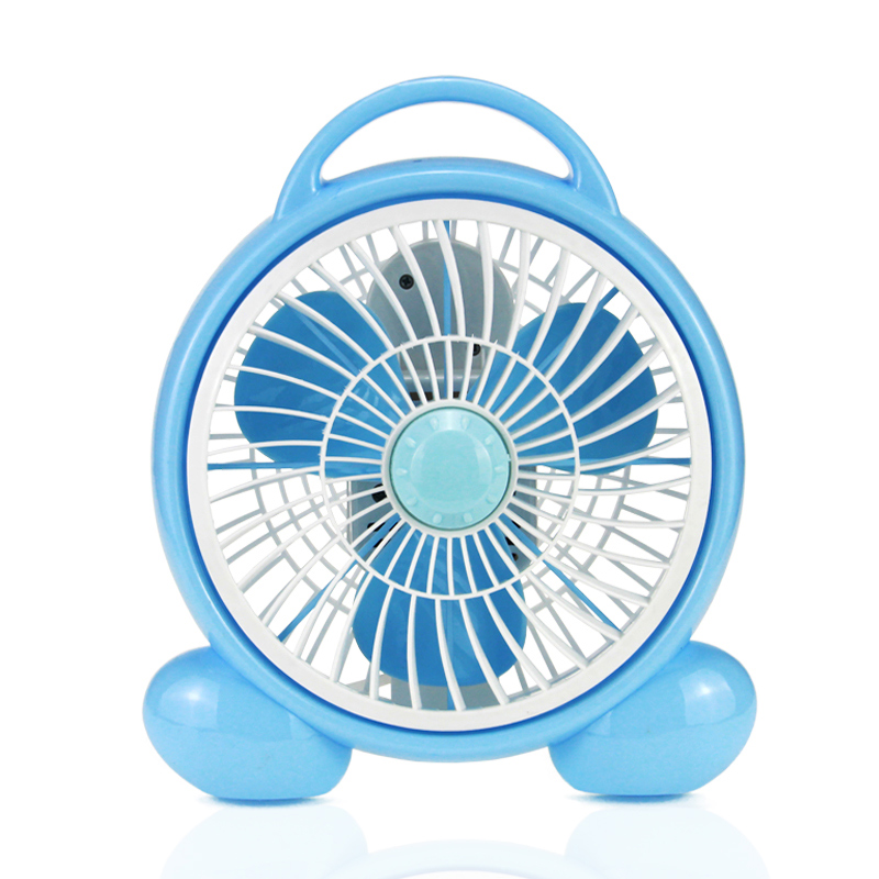 220V New Table Type Electric Fan Cute Cartoon Rotate Fan Energy-saving For Student Office School 2 Gear Control <br>