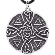 1pcs 4019 Pentacle Elements Pendant Necklace Earth Fire Water Air Element Spirit Amulate Inspiration Talisman Lead Free(China)