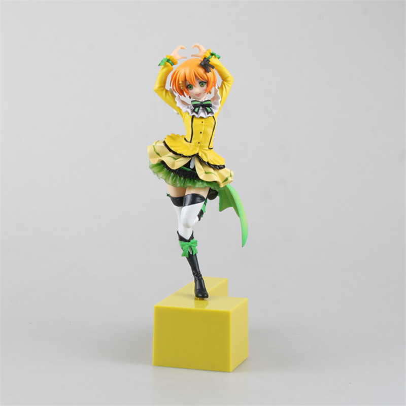 Love live! Rin Hoshizora Yellow Brinquedos Sexy Figure PVC Action Figure Juguetes Collection Model Doll Kids Toys 23CM<br><br>Aliexpress