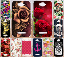 Perfect  Flower Rose Peony Butterfly PC Print Case Hood For Alcatel One Touch Pop C7 OT 7040 7040D OT7040 7041D Phone Cases Capa