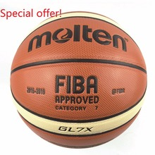 New Season 2015-2019 Official Size 7 Molten GL7X Basketball Ball Homme Men's Basketball For Indoor Training&Match Free Gifts(China)