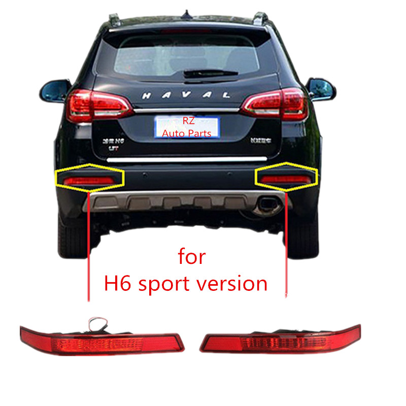 car Red Tail Rear bumper reflector lamp rear fog lights for Great Wall hover H6 sports version 2014 2015 2016<br><br>Aliexpress