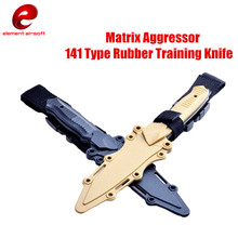 Military Enthusiasts Birthday Gift CS Cosplay Prop Tactical Combat Knife Modeling Rubber Training Sheath Knife Model Toy Sword(China)
