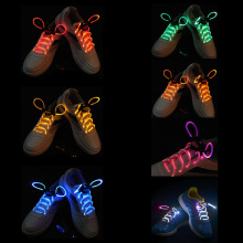 Cool Fashion LED Shoelaces Shoe Laces Flash Light Up Glow Stick Strap Flat Shoelaces Disco Party for Shoe Accessories