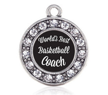 WORLD'S BEST BASKETBALL COACH CIRCLE CHARM