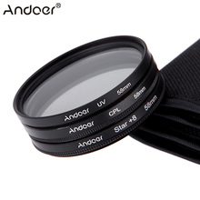 Andoer 58mm Filter Set UV + CPL + Star 8-Point Filter Kit with Case for Canon Nikon Sony DSLR Camera Lens