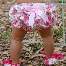 0-3 Years Baby Kids Girls Satin Ruffle PP Pants Children Leopard Bowknot Bloomers Skirt baby Shorts(China)