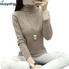 sweater women High Collar Knitted Pullover Slim comfortable high Quality Sweater female Winter Ladies christmas WM546(China)
