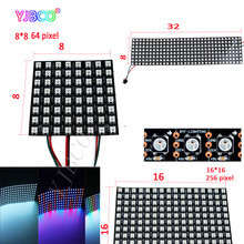 led Pixels Screen 8*8/16*16/8*32 DC5V Full Color WS2812B Panel Screen Digital Flexible LED Programmed Individually Addressable