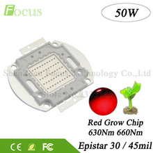 High Power LED Grow Chip 50W Deep Red 660nm + Red 630nm COB DIY 50W 100W 200W Plant Grow Floodlight For Hydroponics Greenhouse