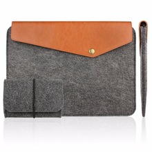 11.6 13.3 15.6 inch For ipad pro Felt&Leather Laptop Sleeve Macbook Air Pro Case surface Ultrabook Tablet Briefcase Carrying Bag