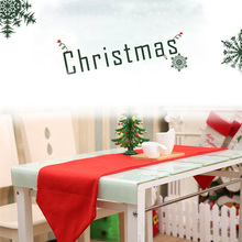 Christmas Table Runner Tablecloth XMAS Party Dinner Tables Decor Home Hotel Festival Decoration Home Parties Red Table Runners(China)