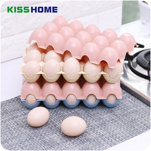 4 Color Kitchen Egg Storage Box Plastic Organizer Refrigerator Storing Egg 24 and 15 Eggs Organizer Container Storage Egg Racks(China)