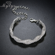 Mytys Multi Chain Wrap Modern White Bracelet Light Comfortable Women Fashion Accessory Jewelry Gift B1072(China)