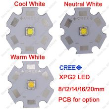 10x 5W Cree XPG2 XP-G2 High Power LED Emitter Diode, Cool White /Warm White /Neutral White on 8mm/ 12mm/ 14mm/ 16mm/ 20mm PCB