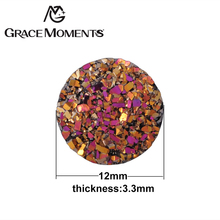 Grace Moments 100pcs 12mm Glitter Starry Sky Spacers Women Jewelry Findings 12 Colors Twinkling Pads Making Fashion Jewellery
