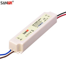 SANPU SMPS 24v 20w Waterproof LED Power Supply Constant Voltage Switch Driver 220v 230v ac to dc Lighting Transformer IP67 White(China)