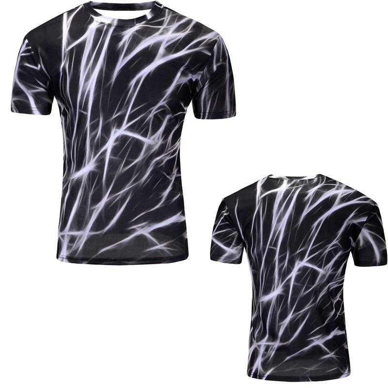 12 Color 3d print Lightning cat t shirt 11