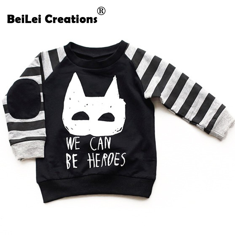 baby boys sweatshirts long sleeve batman children t shirts cotton girls pullover hoodies tops kids