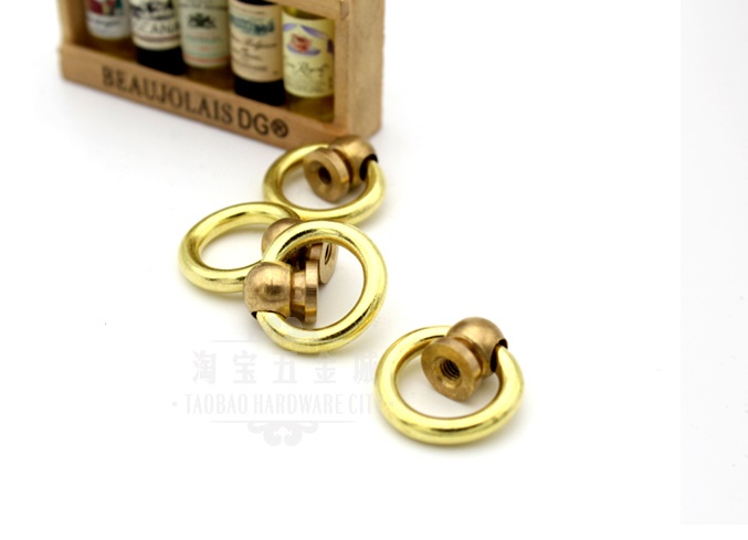 20PCS/LOT  Jewelry Chest Gift Wine Music Box Dollhouse  Solid Brass Ring Pull Knob Handle<br><br>Aliexpress