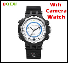 (BQEXI) FOXWEAR Fox8 Sport Camera Watch  LED Floodlight Video Record built-in Compass Smart Wifi Camera Watch APP Remote Control