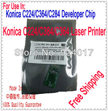 Chips For Konica Minolta Developer Bizhub C220 C284 C364 Printer,Chip For Konica Minolta Bizhub C 224 364 384 Printer,DV512 KCMY